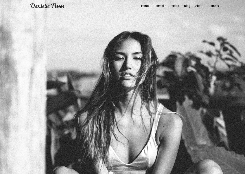 danielle fisser website design work